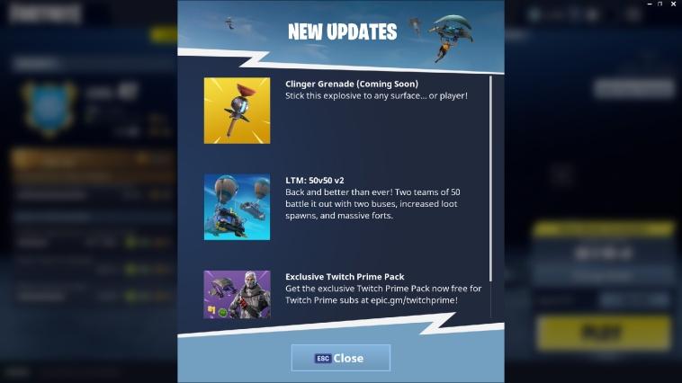 Clinger Grenade Fortnite Update 3.6.0