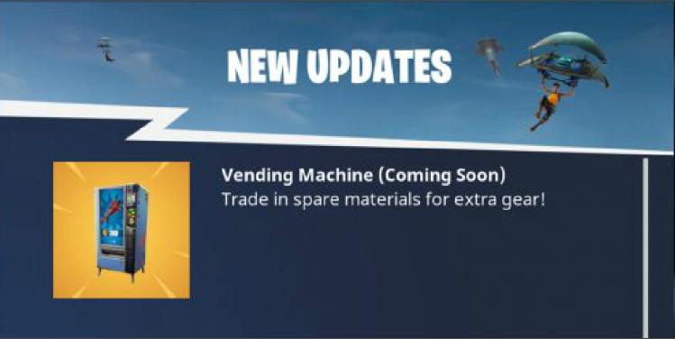 Vending Machines New Items Fortnite