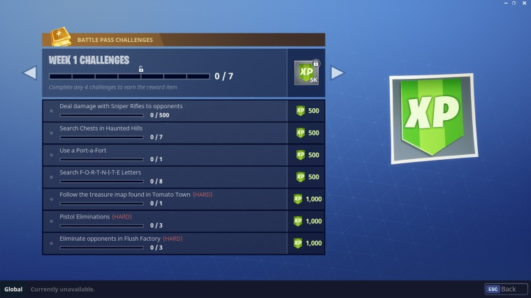 Season 4 Week 1 Challenges Fortnite