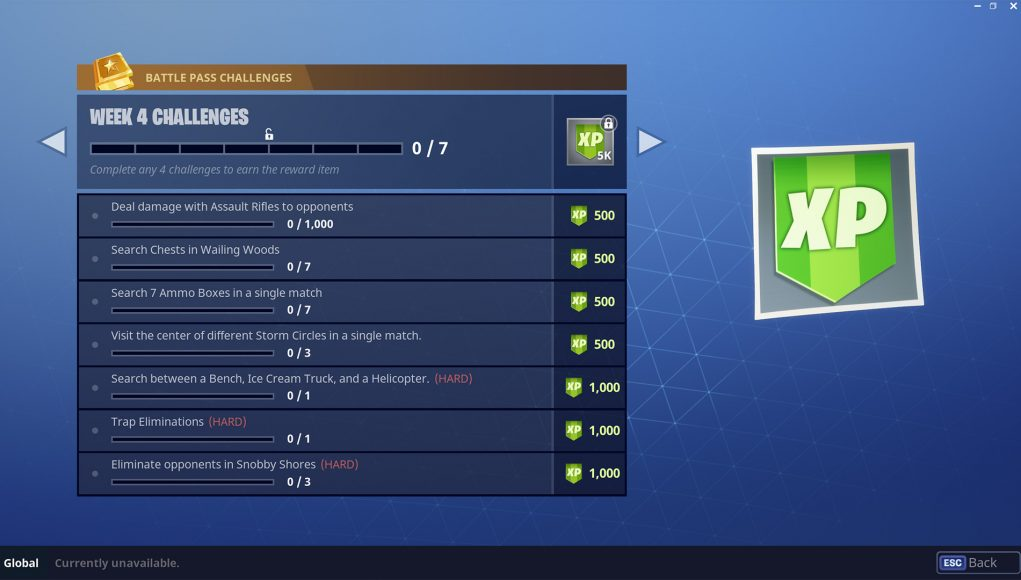 Season 4 Week 5 Challenges for Fortnite Battle Royale