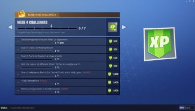 Season 4 Week 4 Challenges Fortnite Battle Royale