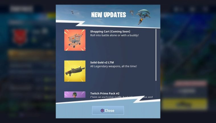 Shopping Carts Fortnite Update