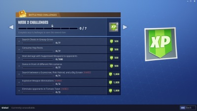 Season 4 Week 2 Challenges Fortnite Battle Royale