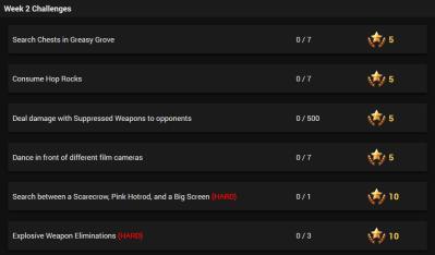Season 4 Week 2 Challenges Leaked Fortnite