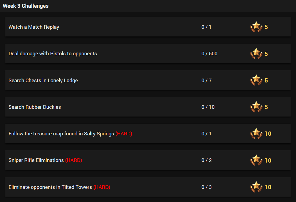 Season 4 Week 4 Challenges LEAKED in Fortnite
